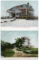 """""""New"""" and """"old"""" views of Trull Hospital, Biddeford, ca. 1910"""