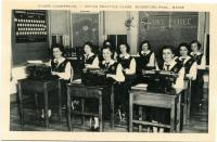 """Cours Commercial"" at Marie-Joseph Academy, Biddeford Pool, ca. 1950"