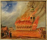 Third phase, burning of Old South Church, Bath, 1854