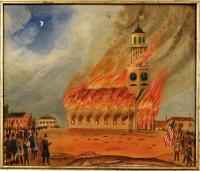 Third phase, burning of Old South Church, Bath, 1854