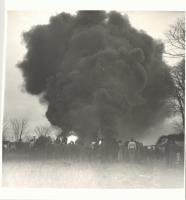 Richfield Oil Fire smoke cloud, Saco, 1953