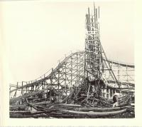 Roller Coaster after fire, Old Orchard, 1948