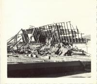 Debris from Old Orchard after fire, Old Orchard Beach, 1948