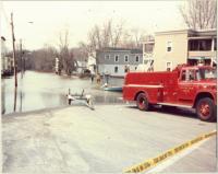 Irving Street, Saco River flood, 1987