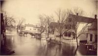 Flooded Main Street, Biddeford, ca. 1870