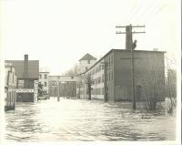 Flood on Water Street, Saco, ca. 1936