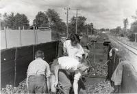 Good Will Boys unloading coal, Fairfield, ca. 1935