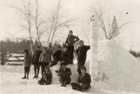 Good Will Boys with Igloo, Fairfielld, ca. 1945