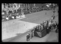Maine Centennial Parade reviewing stand, Portland, 1920