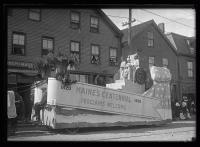 Maine Centennial Parade float, Portland, 1920