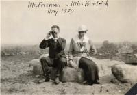 Mr. Freeman and Miss Kendrick, Fairfield, 1920