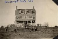 Bancroft-Foote Cottage fire aftermath, Fairfield, ca. 1925
