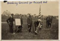 Ground breaking for the Prescott building, Fairfield, 1915