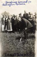 Ground Breaking for Gilman/Redington Cottage, Fairfield, 1915