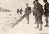 Ice Cutting, Fairfield, ca. 1925