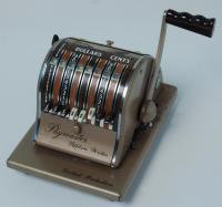 Paymaster machine, Waterville, ca. 1960