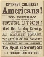 Call to arms, Portland, 1861