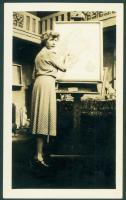 Mildred Burrage painting, 1927
