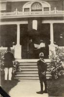 Service Flag unfurling at Bancroft-Foote Cottage, Fairfield, 1918