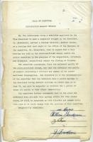 Synagogue report on disagreement, Portland, ca. 1950