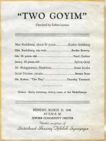 'Two Goyim' program, Portland, 1948