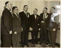 Shaarey Tphiloh officers, Portland, 1954