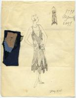'Argentine' dress illustration, 1928