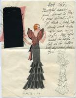 'Creole' dress croquis, Paris, 1933