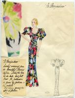 'La Pompadour' dress illustration, Paris, 1936