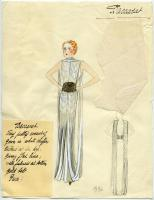 'Baccarat' dress design, Paris, 1936