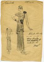 'Coquelicots' dress design, Paris, 1930