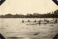 Swimming in Martin Stream, Fairfield, 1919