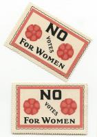 Anti-suffrage stamps, 1918