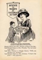 Pro woman suffrage political cartoon, 1918