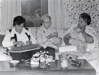 Harriett H. Hinckley, Beatrice Robinson and Dorothy Chase, Fairfield, ca. 1970