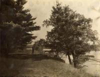 George Walter Hinckley at the Pines, Clinton, ca. 1912