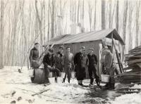 Good Will boys at Maplecroft Sap House, Fairfield, ca. 1945