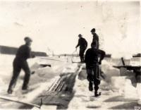 Good Will Boys cutting ice, Fairfield, ca. 1920
