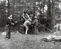 Roasting marshmallows, Fairfield, ca. 1960