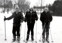 Cross country skiing, Fairfield, ca. 1950