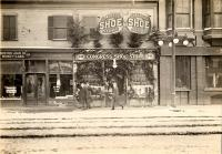 Congress Shoe Store at Christmas, ca. 1912