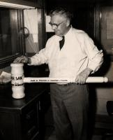 Sam Rayburn with gavel, ca. 1958