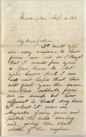 Pvt. John Sheahan on arrival in Washington, 1862