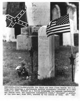 Headstone, unknown Confederate soldier, Gray