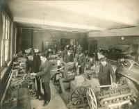 Auto repair class, Portland High School, ca. 1920