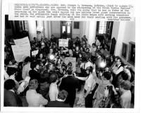 Protestors with Gov. Brennan, May 25, 1979
