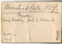 John Dunn's Moosehead Lake 1889 diary