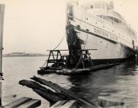 The City of Bangor's damaged hull, 1908