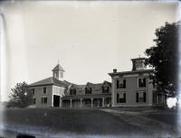 Dr. Charles W. Bell's home and hospital, Strong, ca. 1903