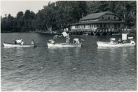 Boat regatta, Camp Lown, ca. 1957
